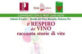 """Marsala, a Palazzo Fici: """"Il respiro del vino racconta storie di vite"""", l'ultimo libro di Moio"""