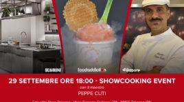 II maestro del gelato Peppe Cuti, presenta il sorbetto allo spritz al tour FoodAddiction in Store